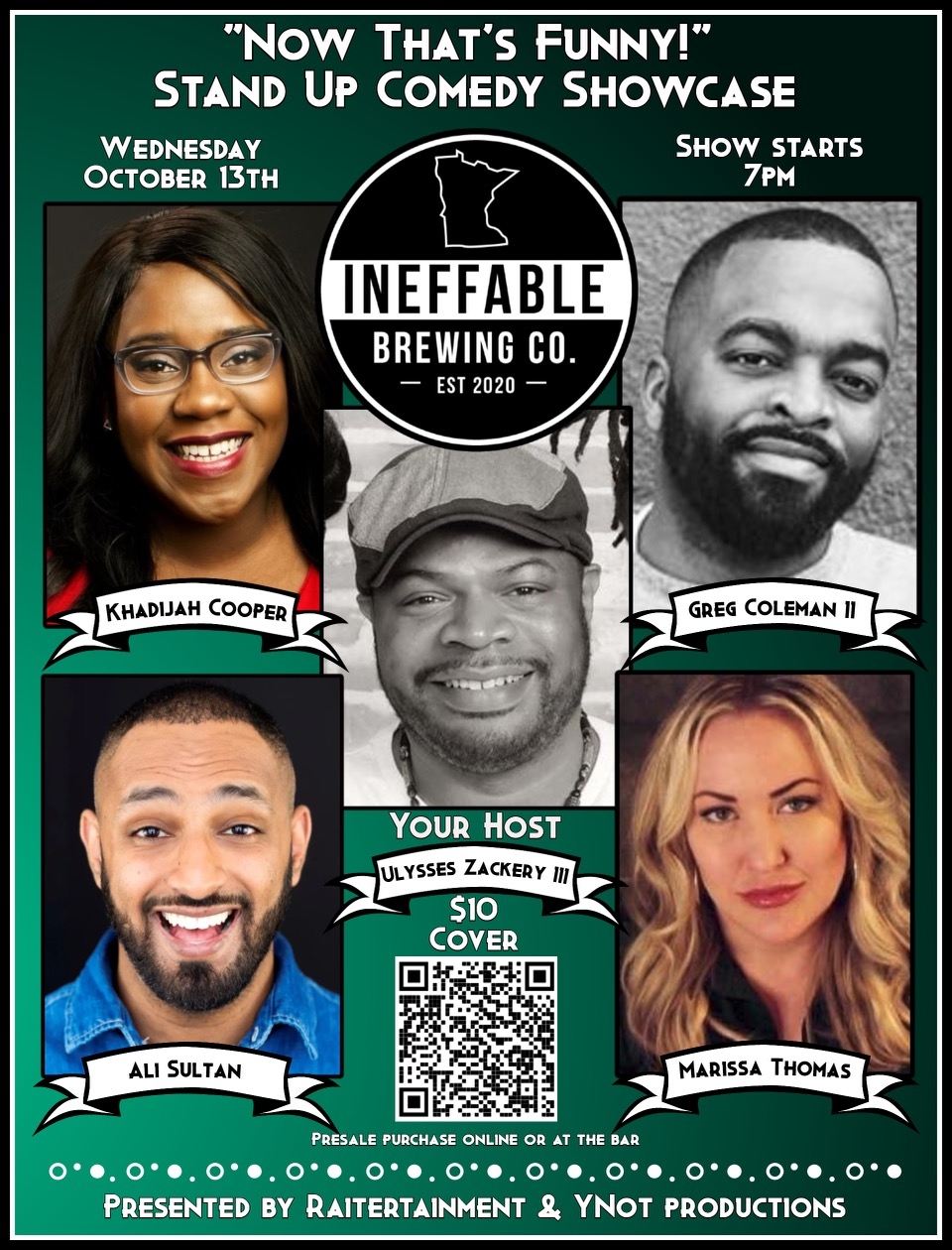 Comedy Night at Ineffable Brewing Company